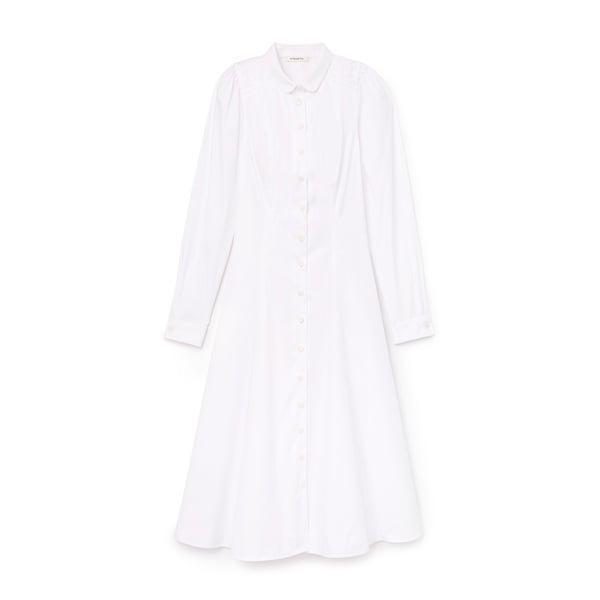 Hiraeth Gabrielle Cotton Midi Shirtdress