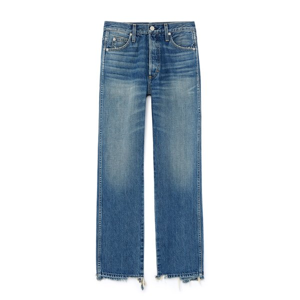 AMO Layla High-Rise Relaxed Straight-Leg Jeans