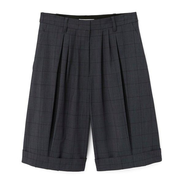 Tibi Menswear Windowpane Pleated Short