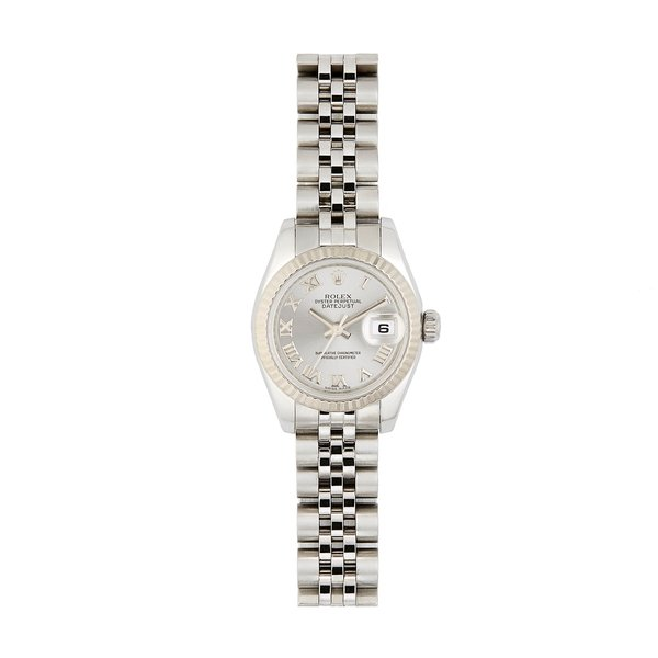 Bob's Watches Rolex Stainless-Steel with 18K White-Gold Women's Date Watch