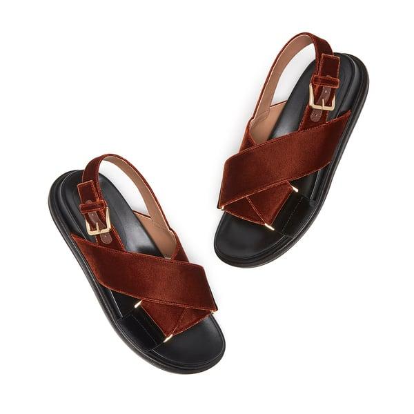 Marni Velvet Fussbett Sandal