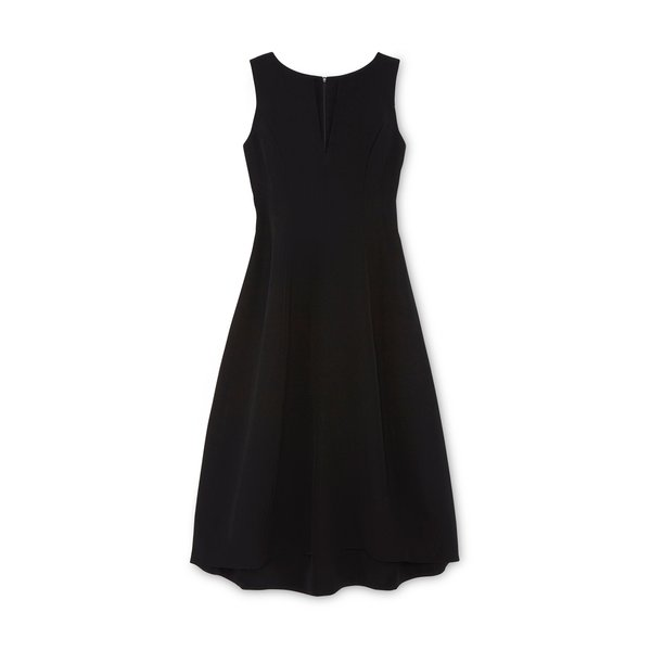 Co Tulip Textured Wool Dress