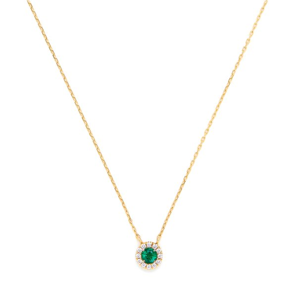 Suzanne Kalan One of a Kind Small Round Emerald Necklace