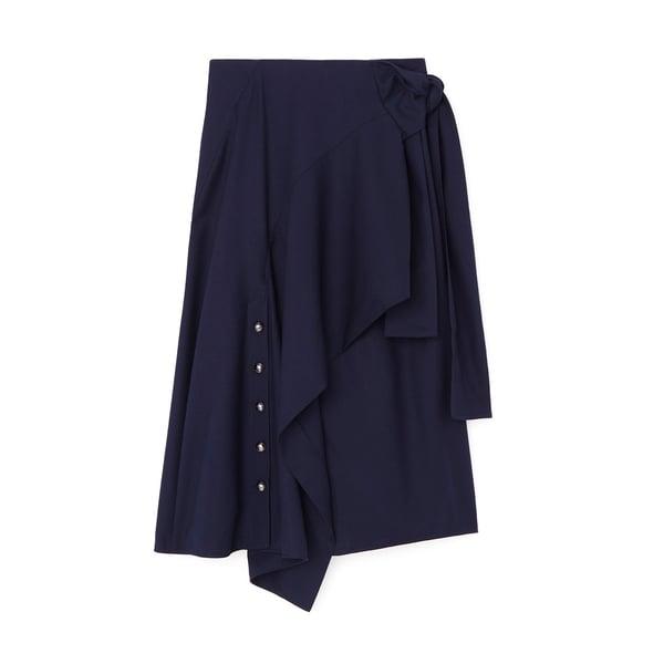 Chloé Side Tie Midi Skirt