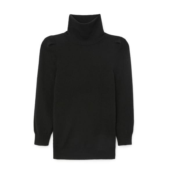 G. Label Jennifer Puff-Sleeve Sweater