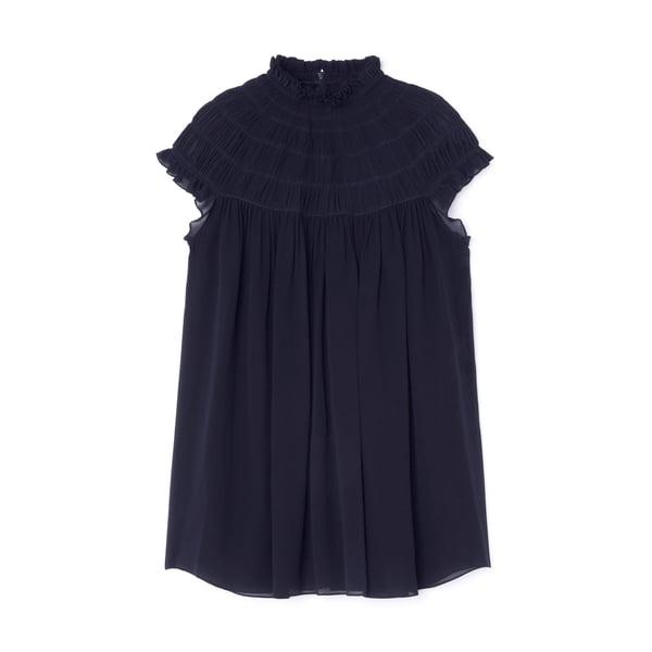 Chloé Smocked Silk Tunic