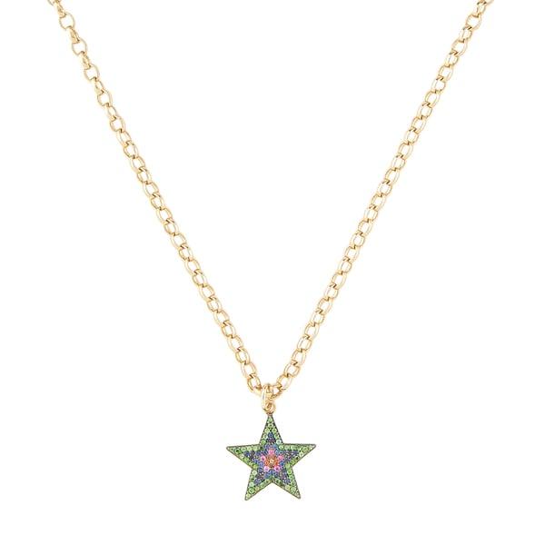 Kirstie Le Marque Pavé Multicolor Large Star Pendant Necklace