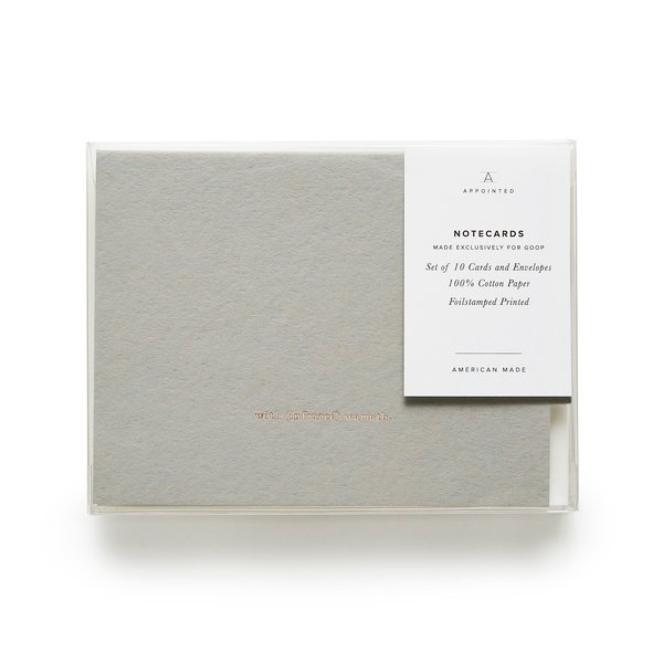 goop x Appointed  goop-Exclusive Notecards with (infrared) Warmth, Set of 10