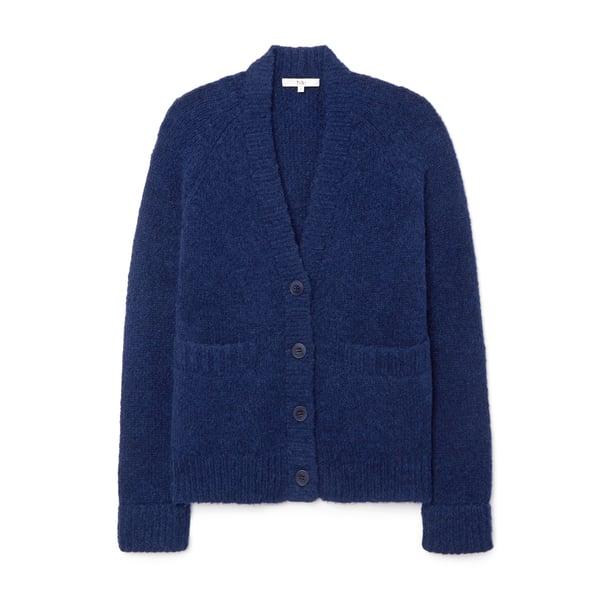 Tibi Cozette Alpaca Sweater Raglan Sleeve Cardigan