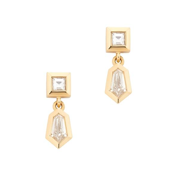 Azlee Dangle Rare Cut Earrings