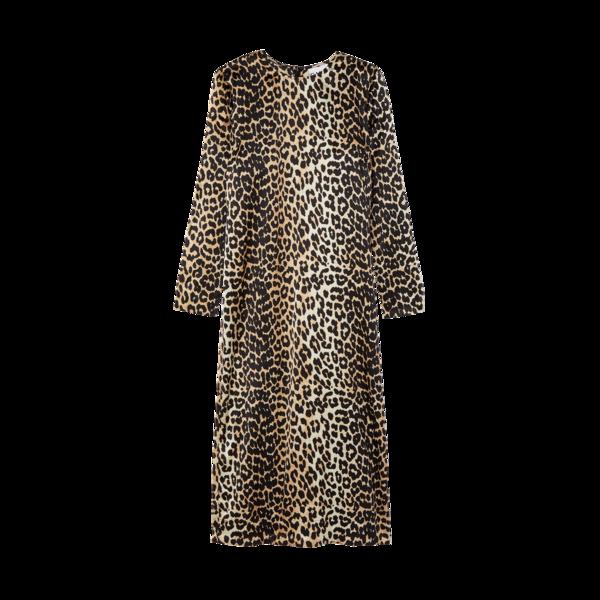 Ganni Stretch Silk-Satin Dress