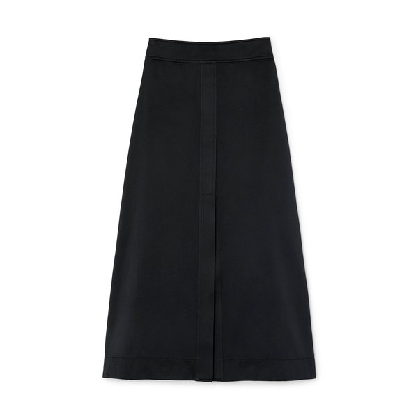 G. Label Stewart A-Line Double-Satin Skirt