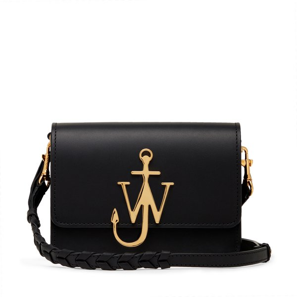 JW Anderson Black Anchor Logo Bag
