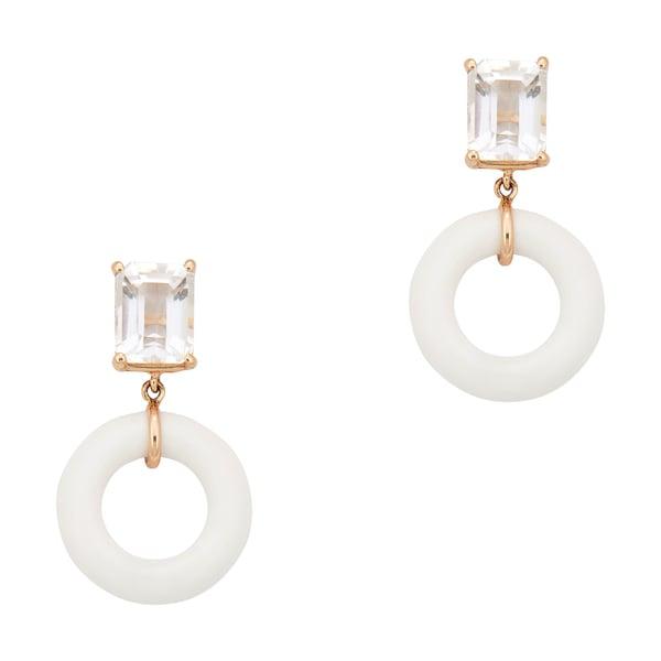 Bondeye Jewelry White Topaz Munchkin Earrings
