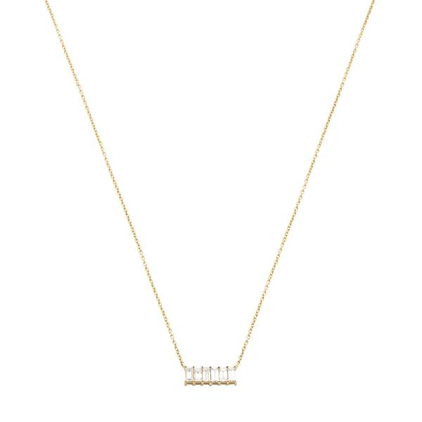 Eriness Diamond Baguette Staple Necklace