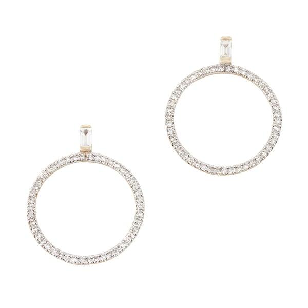 Eriness Diamond Baguette Loop Earrings