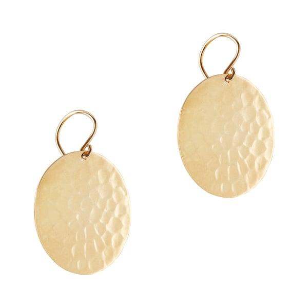 Jennifer Meyer Small Hammered Disc Earrings