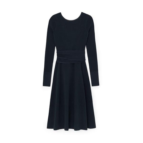 Victoria Beckham Crossback Flared Dress