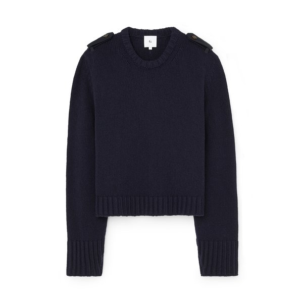 G. Label Thomas Sweater with Epaulets