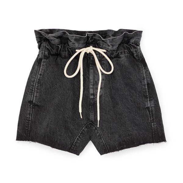 Bassike Denim Paper-Bag Shorts