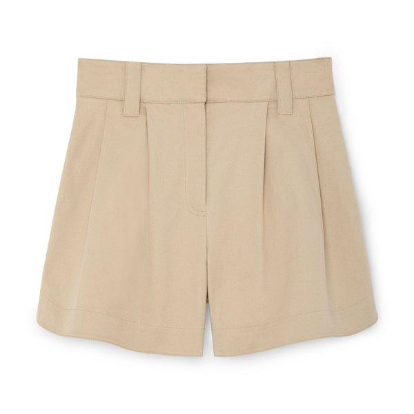 G. Label Heather Side-Snap Shorts