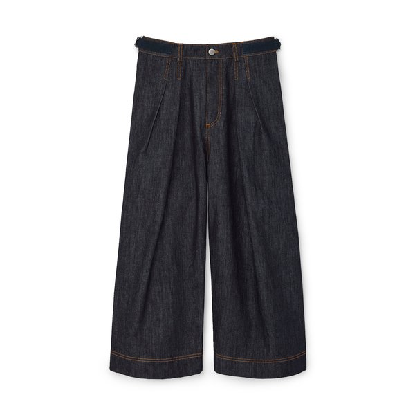 JW Anderson Pleated Cropped Denim Trousers
