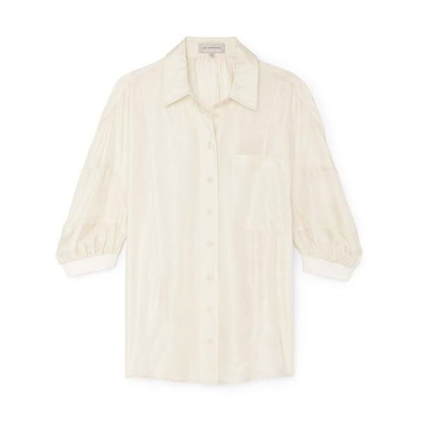 Lee Mathews Rommie Neat Puff Sleeve Shirt