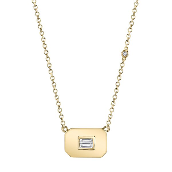 Shay Jewelry Baguette Diamond Necklace