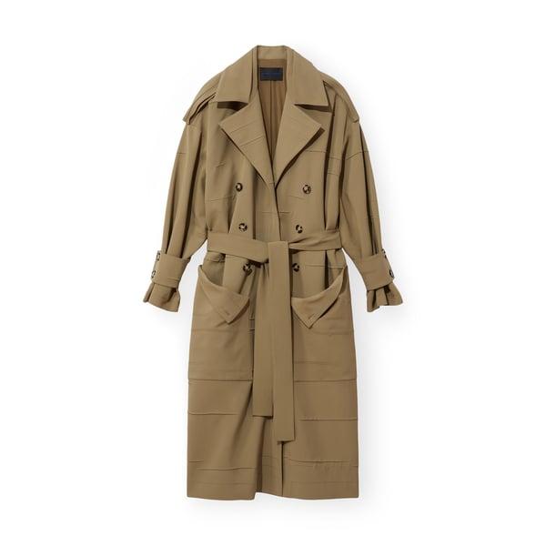 Proenza Schouler Crinkle Pleat Trench Coat
