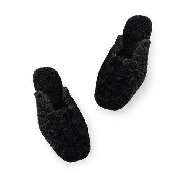 Sleeper Black Shearling Slippers