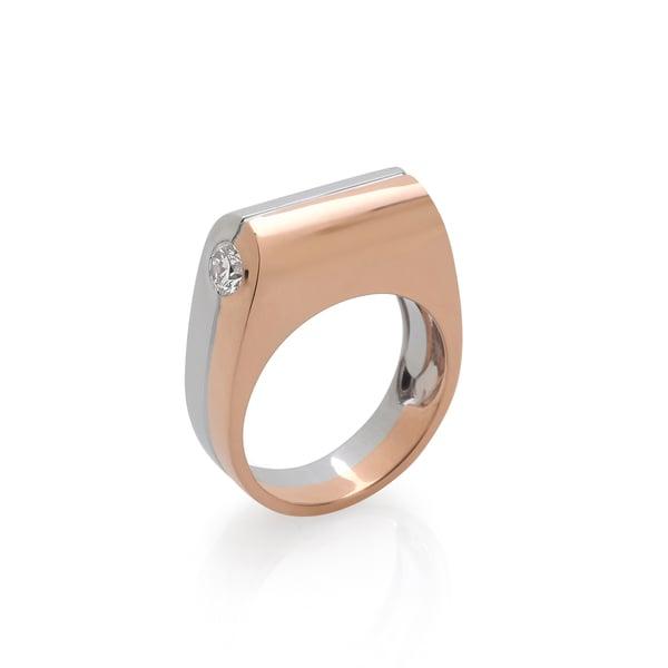 Prasi Fine Jewelry Dois Irmãos Ring with Side Diamonds
