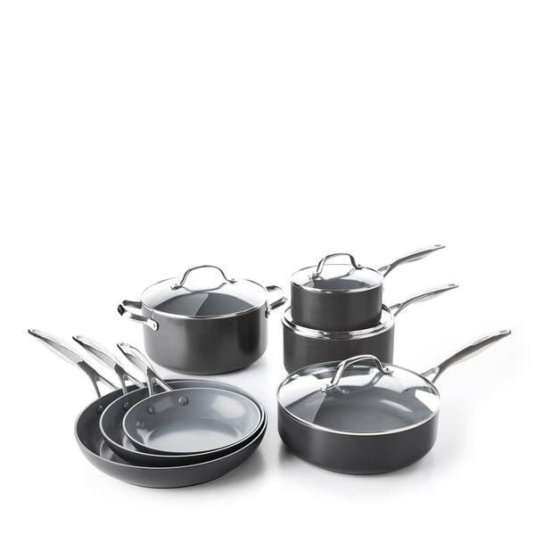 GreenPan Valencia Pro Ceramic Nonstick Cookware, 11-Piece Set