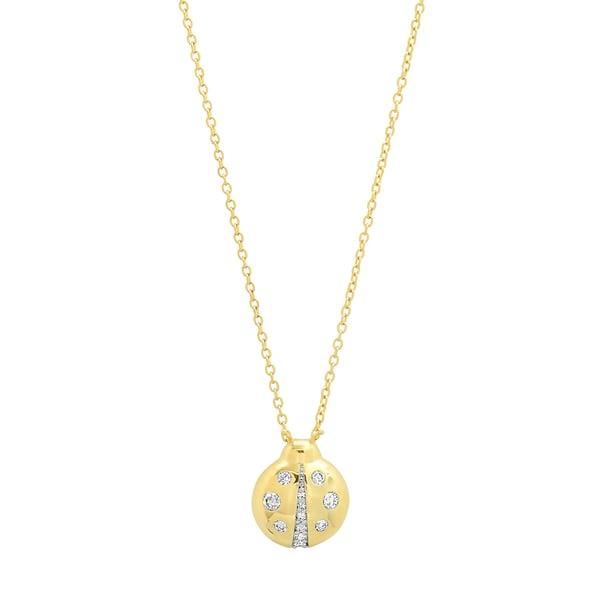 Eriness Diamond Baby Ladybug Necklace