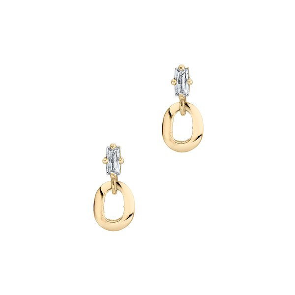 Lizzie Mandler Baguette and XS Link Earrings