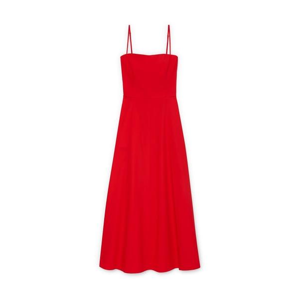 G. Label Cambria Skinny-Strap Midlength Dress