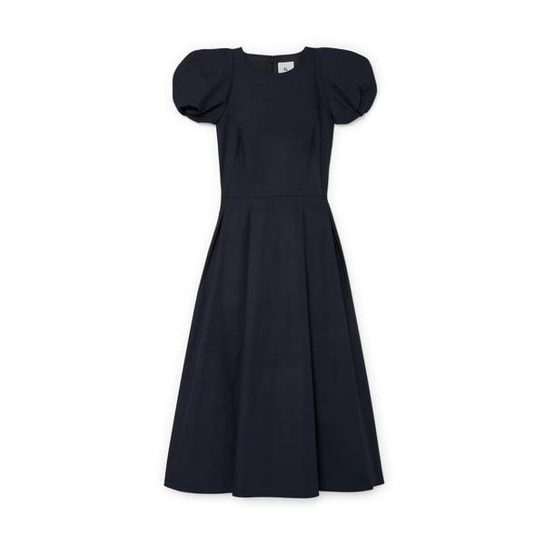 G. Label Elle Rounded-Sleeve Midlength Dress