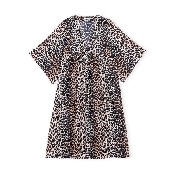 Ganni V-Neck Babydoll Dress