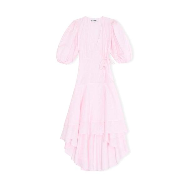 Ganni Printed Cotton Poplin Dress