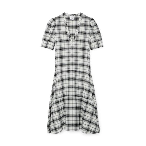 G. Label Daun Puff-Sleeve Henley Dress