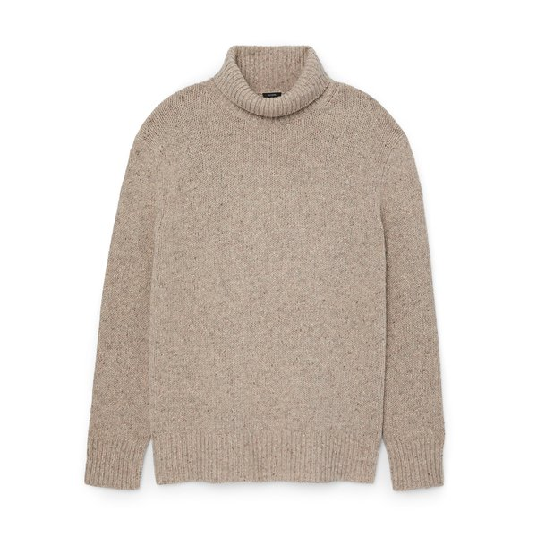 Joseph Tweed Knit Turtleneck