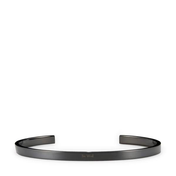 HNDSM Be Well Black Titanium Cuff