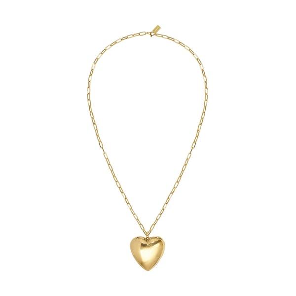 Lauren Rubinski 14-Karat Gold Heart Necklace