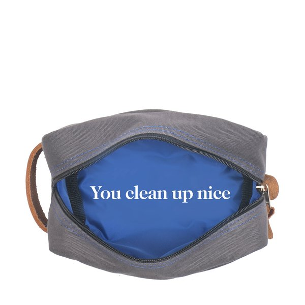 """Boarding Pass goop-Exclusive """"You Clean Up Nice"""" Dopp Kit"""