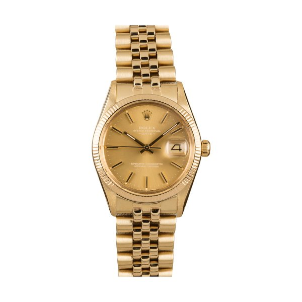 Bob's Watches Rolex Men's Date 14-Karat Yellow Gold 34mm