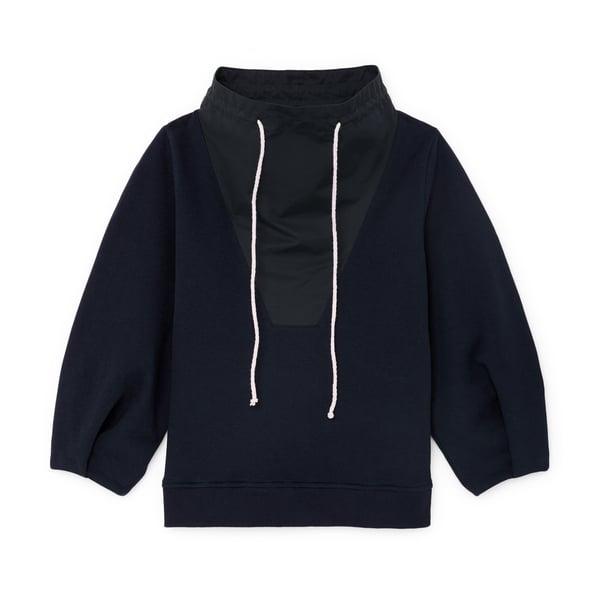 G. Label Meyer High-Collar Puff-Sleeve Sweatshirt
