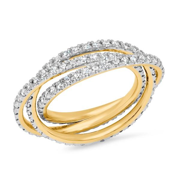 Eriness Diamond Interlocking Ring