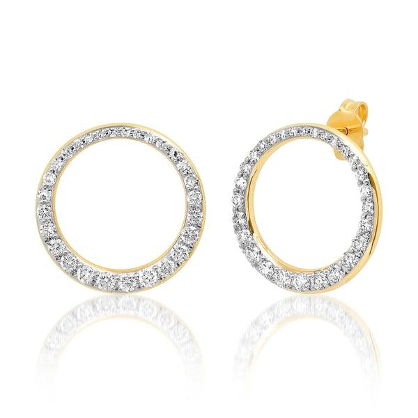 Eriness Diamond Asymmetrical Loop Earrings