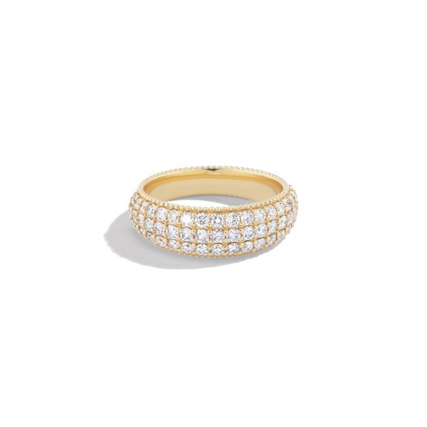 Sophie Ratner Wide Pavé Band with Milgrain