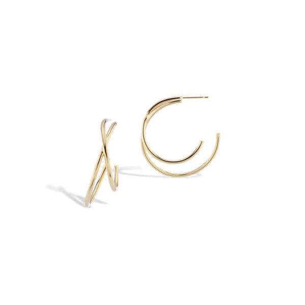 Sophie Ratner Medium Crisscross Earrings