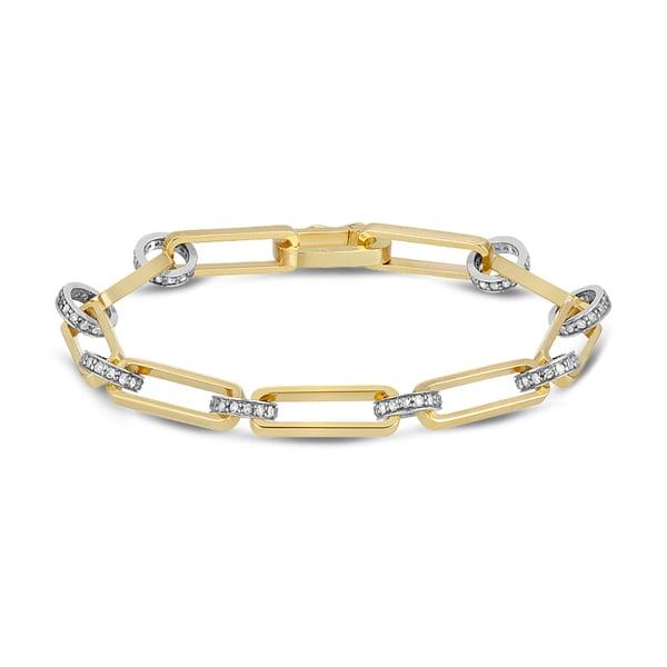 Nancy Newberg Diamond Chain-Link Bracelet